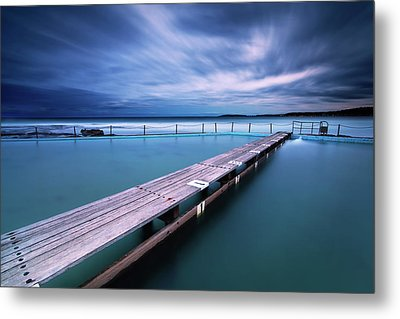 Narrabeen Tidal Pool By Night, Sydney, Australia Metal Print by Yury Prokopenko