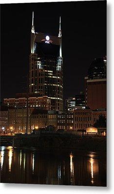 Nashville Skyline At Night Metal Print by Sam Amato