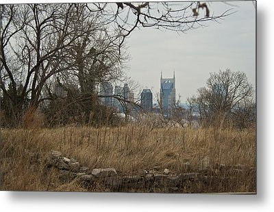 Nashville Skyline From The Fort Metal Print by Douglas Barnett