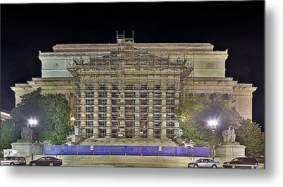 National Archives Building Renovation Metal Print by Metro DC Photography
