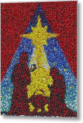 Nativity Mm Candy Mosaic Metal Print by Paul Van Scott