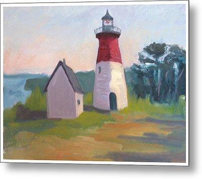 Nauset Lighthouse Cape Cod Metal Print by Suzanne Elliott