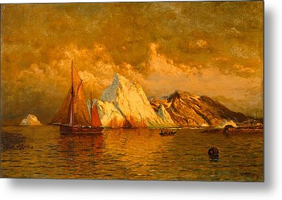 Near Midnight Labrador Metal Print by William Bradford