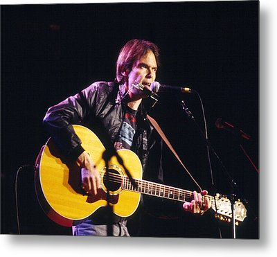 Neil Young 1986 Metal Print by Chris Walter