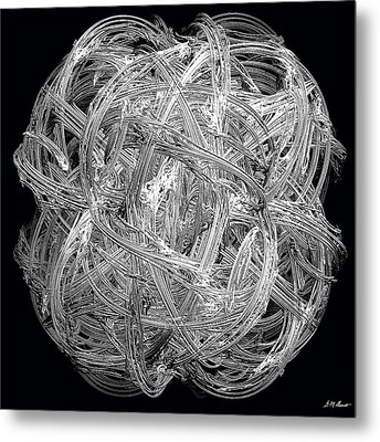 Network Metal Print by Michael Durst