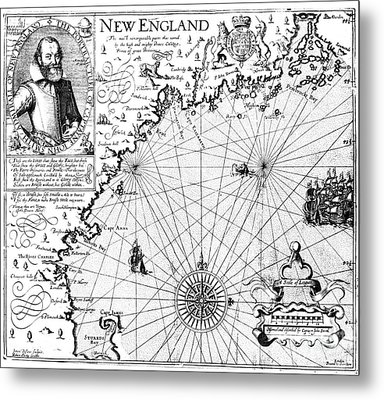 New England Map, 1616 Metal Print by Granger