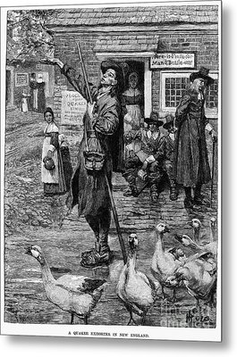 New England: Quaker, 1660 Metal Print by Granger