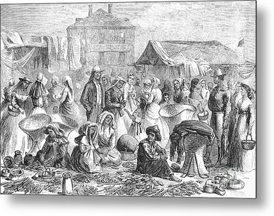 New Orleans: Market, 1866 Metal Print by Granger