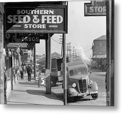 New Orleans: Waterfront, 1935 Metal Print by Granger