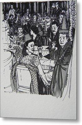 New Year's Eve 1950's Metal Print by Marwan George Khoury