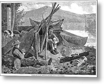 New York: Camping, 1874 Metal Print by Granger