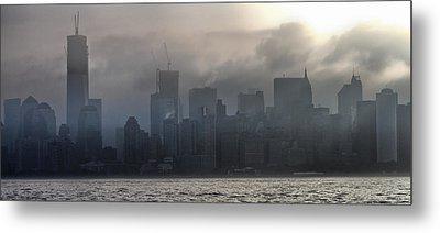 New York Fog Metal Print by Farol Tomson