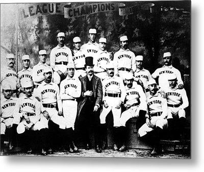 New York Giants, Baseball Team, 1889 Metal Print by Everett
