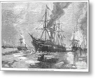 New York Harbor: Ice, 1881 Metal Print by Granger