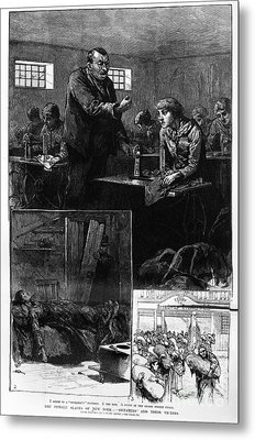 New York: Sweatshop, 1888 Metal Print by Granger