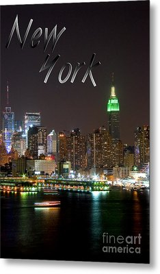 New York Metal Print by Syed Aqueel