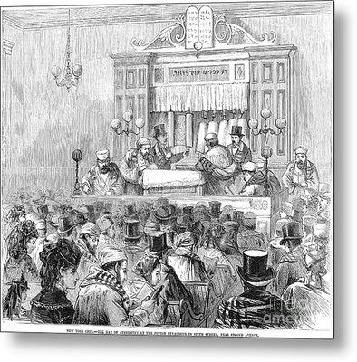 New York Synagogue, 1871 Metal Print by Granger