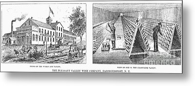 New York: Winery, 1878 Metal Print by Granger