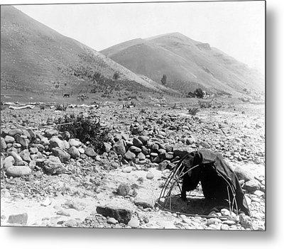 Nez Percé Sweat-lodge. Edward S. Curtis Metal Print by Everett