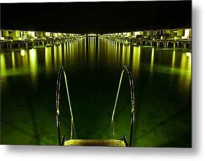 Night. One Day In Paradise. Maldives Metal Print by Jenny Rainbow