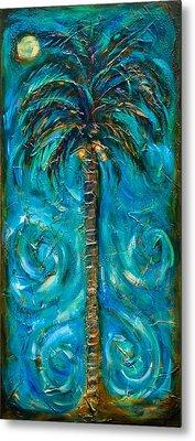 Night Palm Metal Print by Linda Olsen