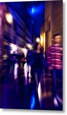 Night Walk. Tnm Metal Print by Jenny Rainbow