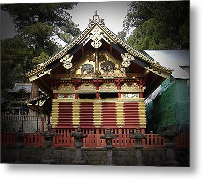 Nikko Architecture With Gold Roof Metal Print by Naxart Studio