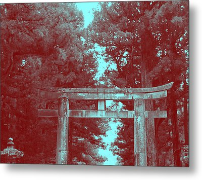 Nikko Gate Metal Print by Naxart Studio