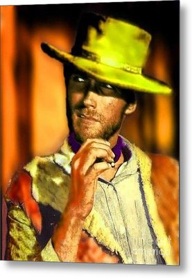 Nixo Clint Eastwood Metal Print by Nicholas Nixo