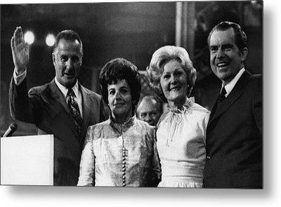 Nixon Presidency. From Left Us Vice Metal Print by Everett
