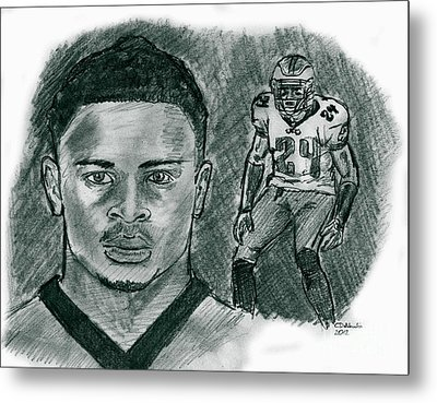 Nnamdi Asomugha Metal Print by Chris  DelVecchio