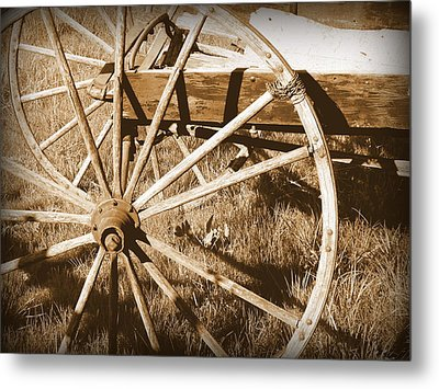 No Gas Needed Buggy Wheels Metal Print by Cindy Wright