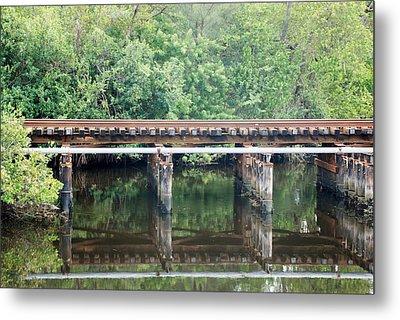 North Fork River Bridge Metal Print by Rob Hans