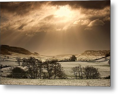 North Yorkshire, England Sun Shining Metal Print by John Short