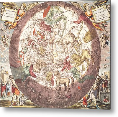 Northern Boreal Hemisphere From The Celestial Atlas Metal Print by Pieter Schenk