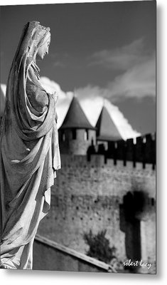 Notre Dame Carcassonne Metal Print by Robert Lacy