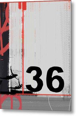 Number 36 Metal Print by Naxart Studio