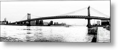 Nyc - Manhattan Bridge Metal Print by Hannes Cmarits