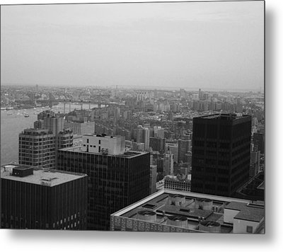 Nyc From The Top 2 Metal Print by Naxart Studio