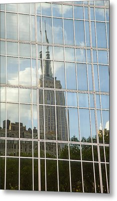 Nyc Reflection 4 Metal Print by Art Ferrier