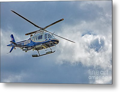 Nypd Metal Print by Susan Candelario
