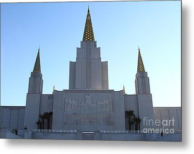 Oakland California Temple . The Church Of Jesus Christ Of Latter-day Saints . 7d11326 Metal Print by Wingsdomain Art and Photography