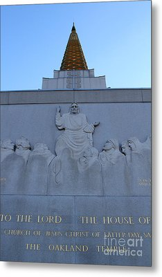 Oakland California Temple . The Church Of Jesus Christ Of Latter-day Saints . 7d11333 Metal Print by Wingsdomain Art and Photography
