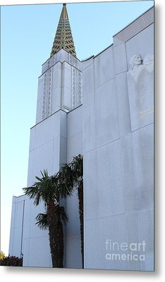 Oakland California Temple . The Church Of Jesus Christ Of Latter-day Saints . 7d11335 Metal Print by Wingsdomain Art and Photography