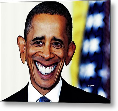 Obamacaricature Metal Print by Anthony Caruso