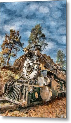 Of Mountain And Machine Metal Print by Jeff Kolker