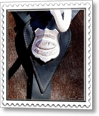 Officer Griffin Metal Print by Danielle  Parent