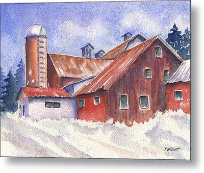 Ohio Barn Metal Print by Marsha Elliott