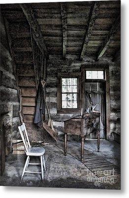 Ohio Cabin Metal Print by Joan  Minchak