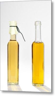 Oil And Vinegar Bottles Metal Print by Matthias Hauser